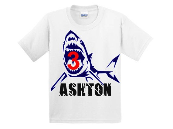 Shark Birthday Shirt by CRAAUS on Etsy