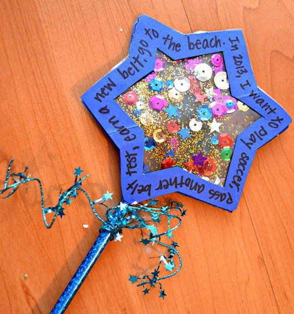Make a New Year wishing wand and encourages children to think about their hopes and dreams for the year ahead.