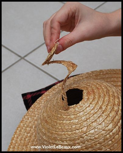 diy raffia hat | How To Make A Straw Boater Hat – Diy Cancan Hat Tutorial ^_^