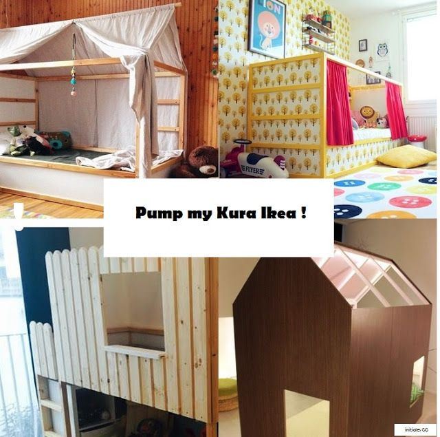customiser lit kura ikea with diy lit cabane. Black Bedroom Furniture Sets. Home Design Ideas
