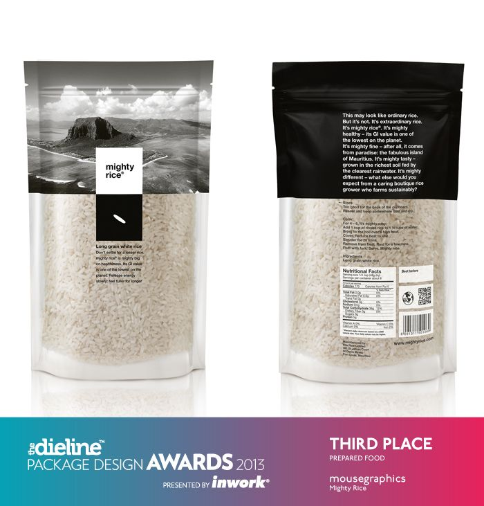 The Dieline Package Design Awards 2013: Prepared Food, 3rd Place - Mighty Rice