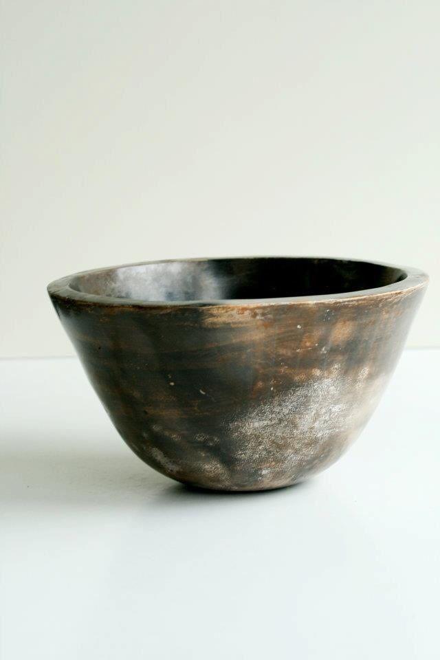 Pit firing ceramic bowl