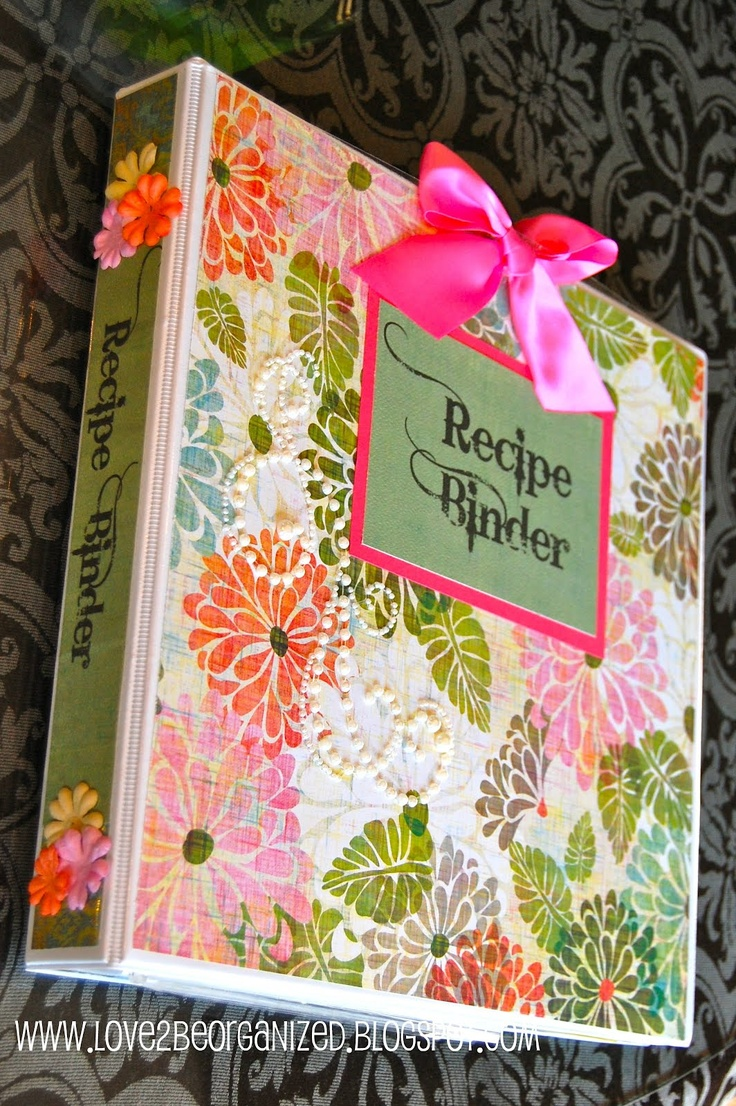 How to scrapbook recipes ideas - Diy Tutorial Create Your Own Recipe Binder Includes Free Printables