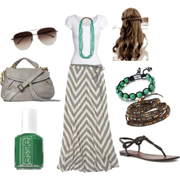 Cute and comfortable...good for traveling.: Colors Combos, Fashion, Summer Outfit, Style, Long Skirts, Chevron Maxis, Chevron Skirt, Maxi Skirts, Maxis Skirts