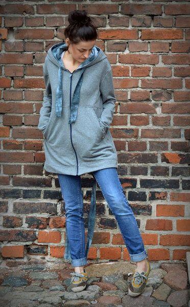Dresowa Parka XS/S - ivy-style - Bluzy z kapturem