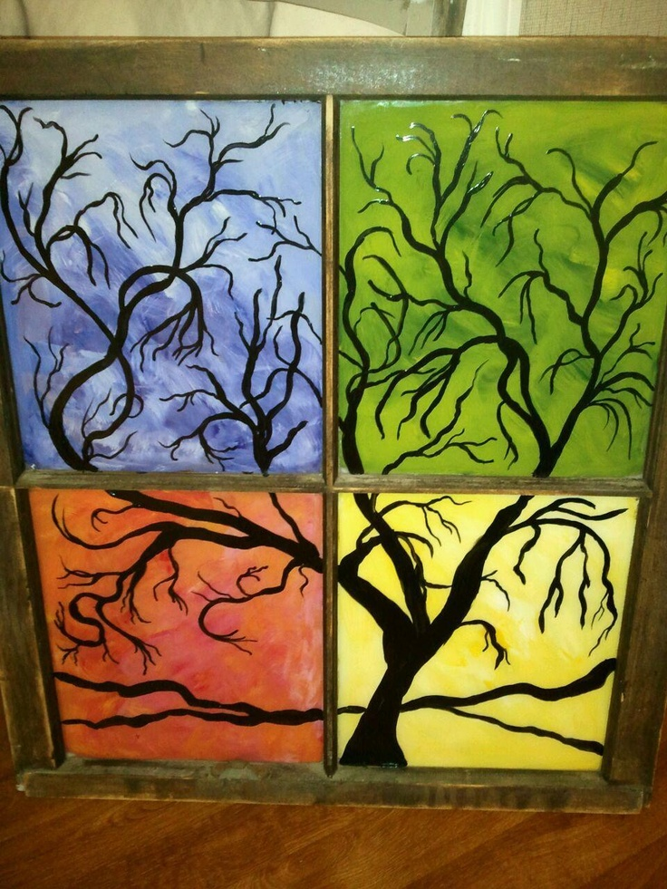 Best 25 old windows painted ideas on pinterest painted for Acrylic paint for glassware