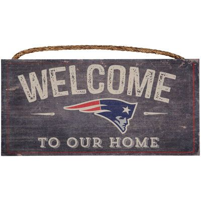 "New England Patriots 6"" x 12"" Welcome To Our Home Distressed Sign"