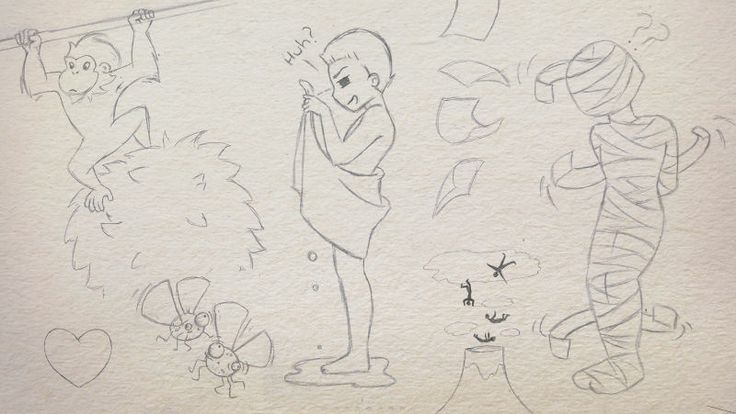 Moments of Madness   Concept Sketches by Corinne Jade Shardlow