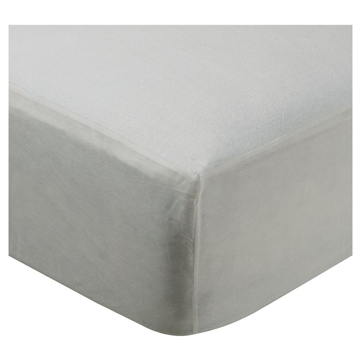 Fitted Mattress Protector (Cal King) White - Room Essentials