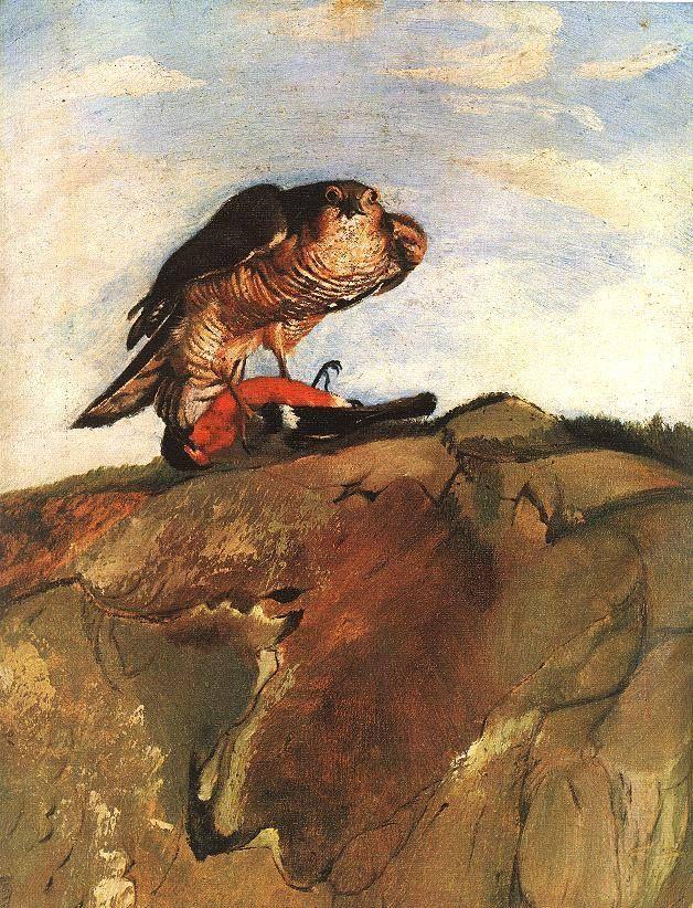 Csontváry Kosztka Tivadar (1853-1919) - Sövöltőt leterítő ölyv
