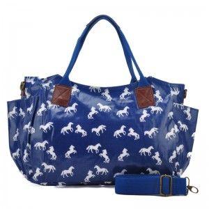 Torebka damska niebieska w konie