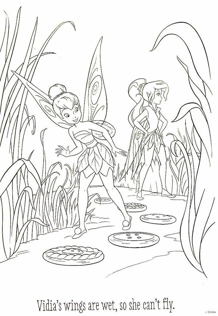 disney fairies and tinkerbell printable coloring book page for kids - Disney Fairy Vidia Coloring Pages