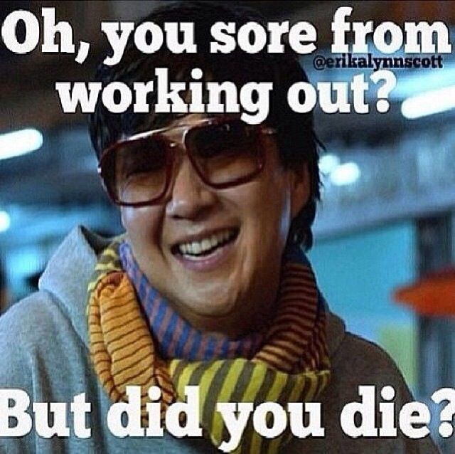 Gym Humor and motivation.Mr Chow says one more rep !