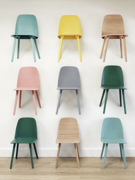 #Muuto Nerd #Stuhl – kunterbunte Kollektion #interieur #design #wood #eiche Erhältlich bei www.flinders.de