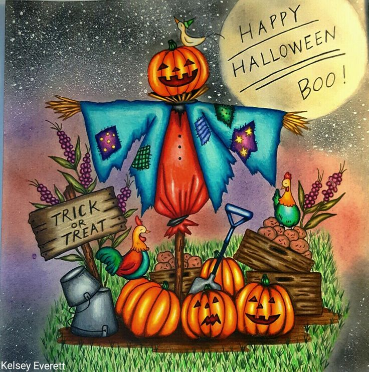 Romantic Country Coloring Book By Eriy Colored Kelsey Everett Happy Halloween 2016