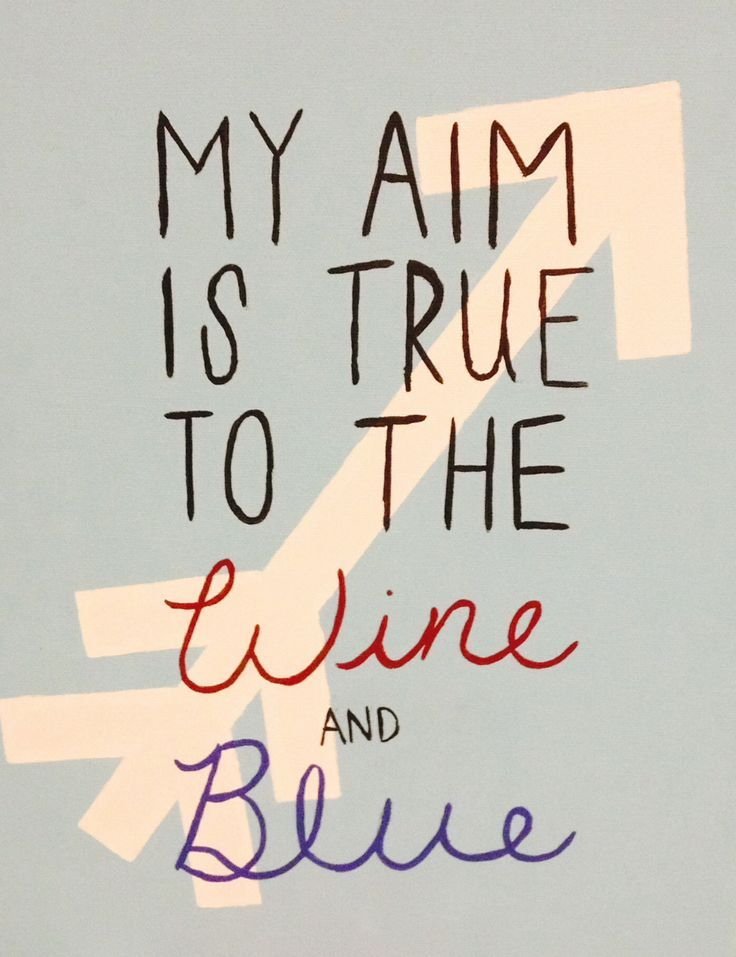 Pi Beta Phi craft - My aim is true to the wine and blue! #piphi #pibetaphi