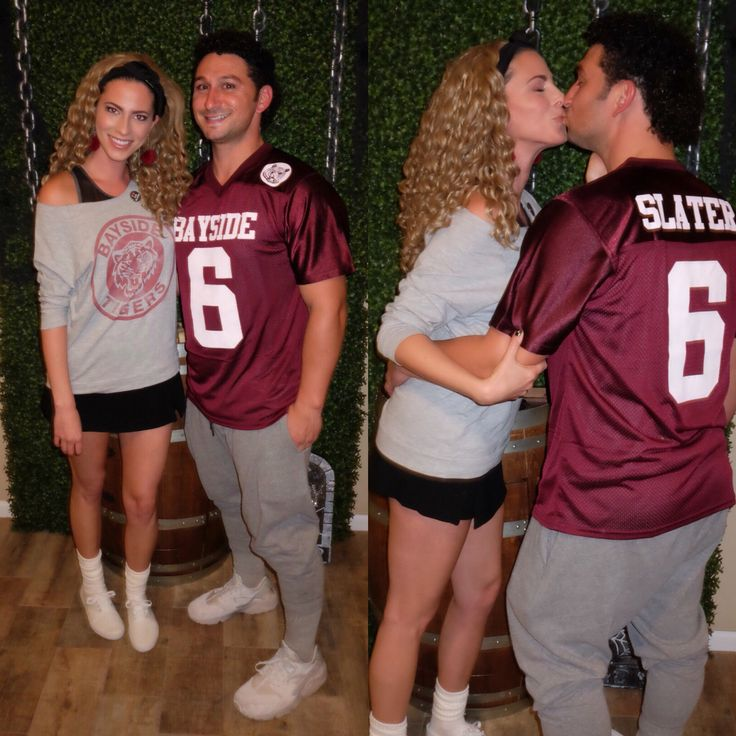 Jessie Spano & AC Slater from Saved by the Bell