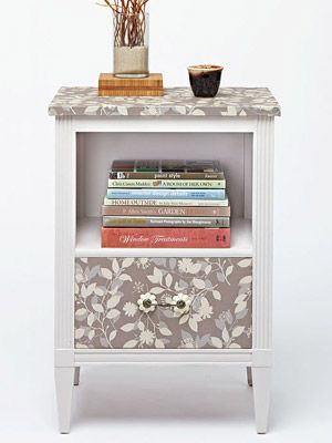 I really like the idea of taking something old and making it great...as soon as I find a nightstand I am doing this.