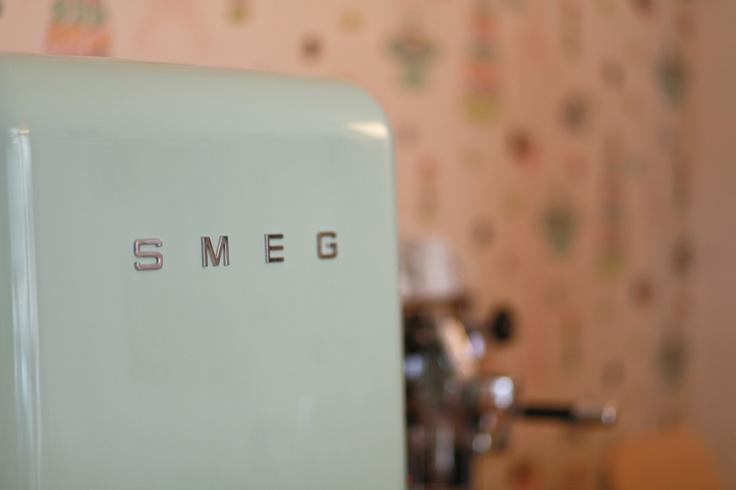 Our lovely mint green fridge...