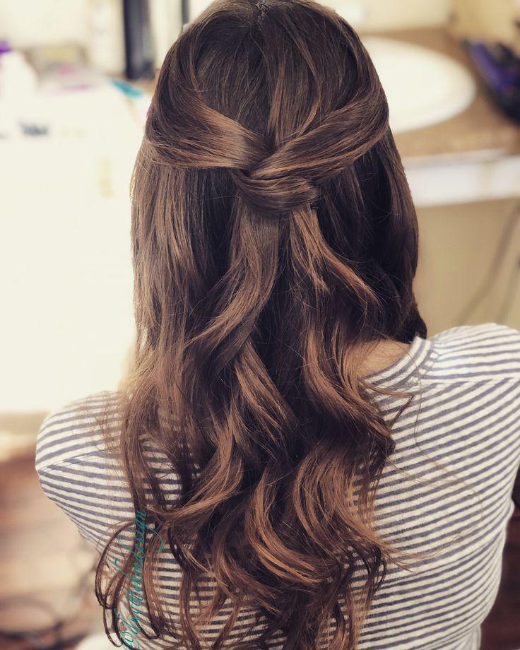 Half Up Half Down Wedding Hair / Simple Bride or Bridesmaid #braut #brautmaid #simple # wedding hair