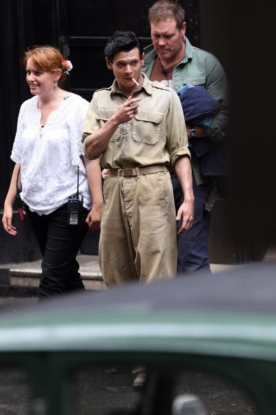 Jack is so Jack! Getting that smoke between shooting the scenes of Unbroken. He looks so ADORABLE in this photo, guys!