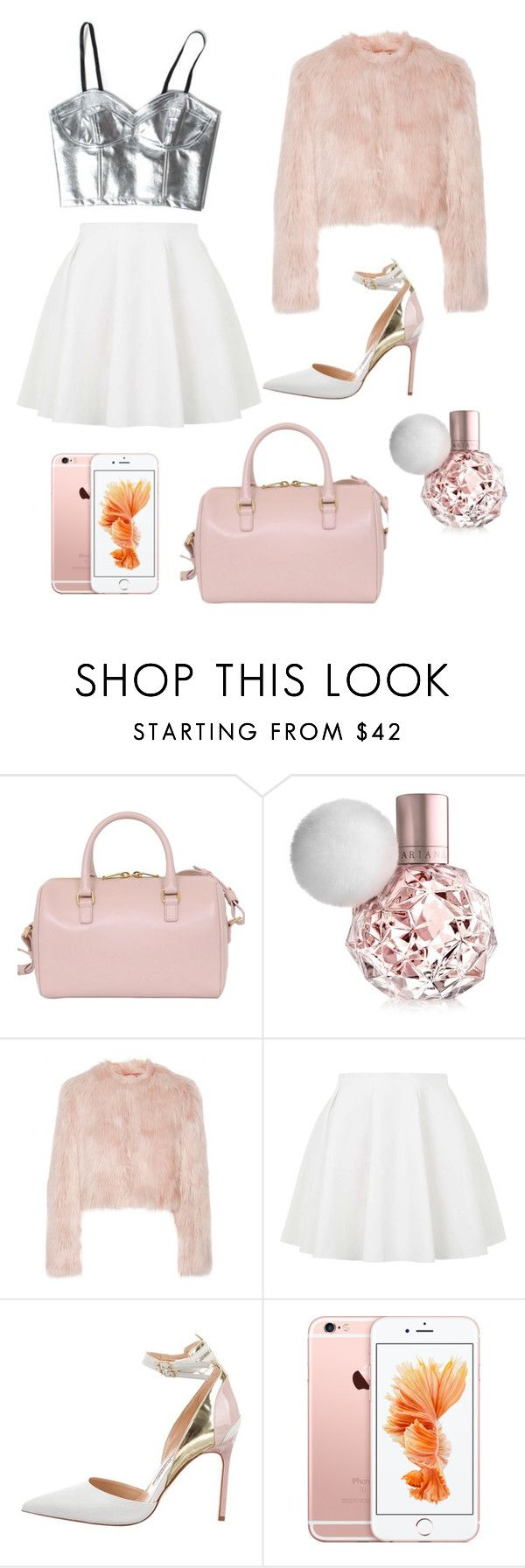 """ARIANA GRANDE SCREAM QUEENS INSPIRED OUTFIT"" by hhff-1 ❤ liked on Polyvore featuring Yves Saint Laurent, RED Valentino, Topshop and Manolo Blahnik"