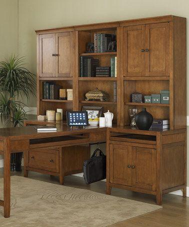 Nutmeg Maple Companion Partners Desk Bookcase Set