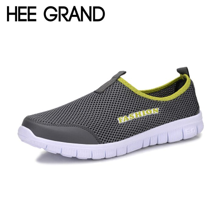 HEE GRAND 2017 Summer Style Men Shoes Male Casual Slip On Network Shoe Man Breathable Mesh Shoes Men Loafers Size Plus XMR199 #clothing,#shoes,#jewelry,#women,#men,#hats,#watches,#belts,#fashion,#style