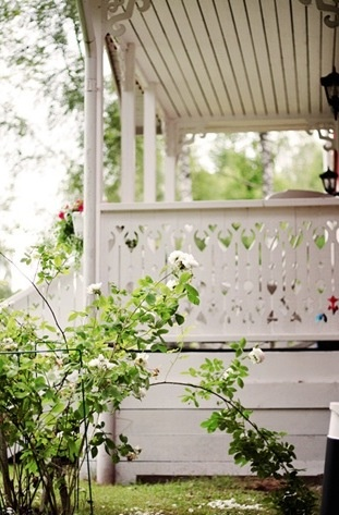 Swedish cottage porch