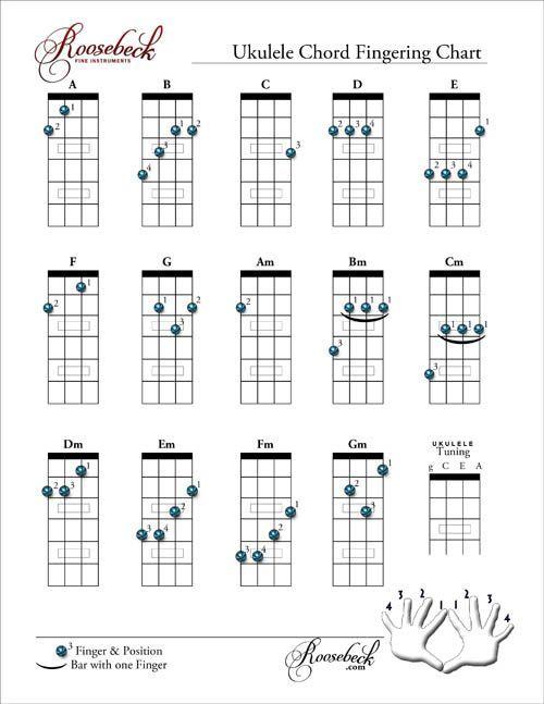 chord chart fingering: 74 best ukulele images on pinterest ukulele chords ukulele and