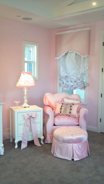 Pink Princess Nursery - Angel Song Aspen Pink Rocker Glider