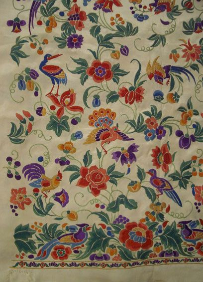 Piece for a girl's shirt (jubla), probably made for Parsis of Mumbai, India, c. 1880. l Victoria and Albert Museum