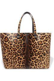 Simple Shopper leopard-print calf hair tote