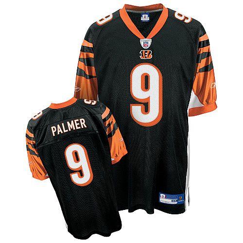 Reebok Cincinnati Bengals Carson Palmer 9 Black Authentic Jerseys Sale