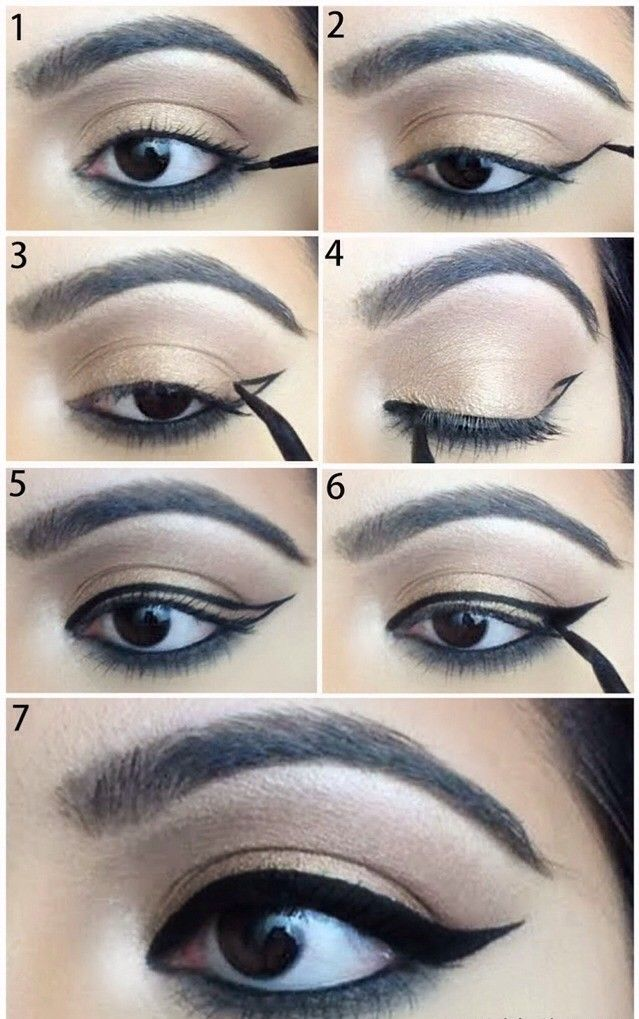 Apologise, but, Winged eyeliner step by step