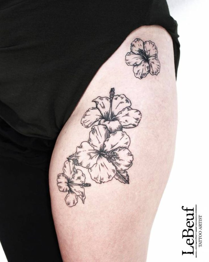 Hibiscus Flower Thigh Tattoo: 30 Best Engraving Tattoos Images On Pinterest
