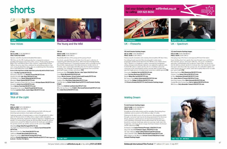 Published on 29 May 2017:  Chicken/Egg in the Official Programme of the Edinburgh International Film Festival  https://issuu.com/eiff/docs/eiff-brochure-2017-web