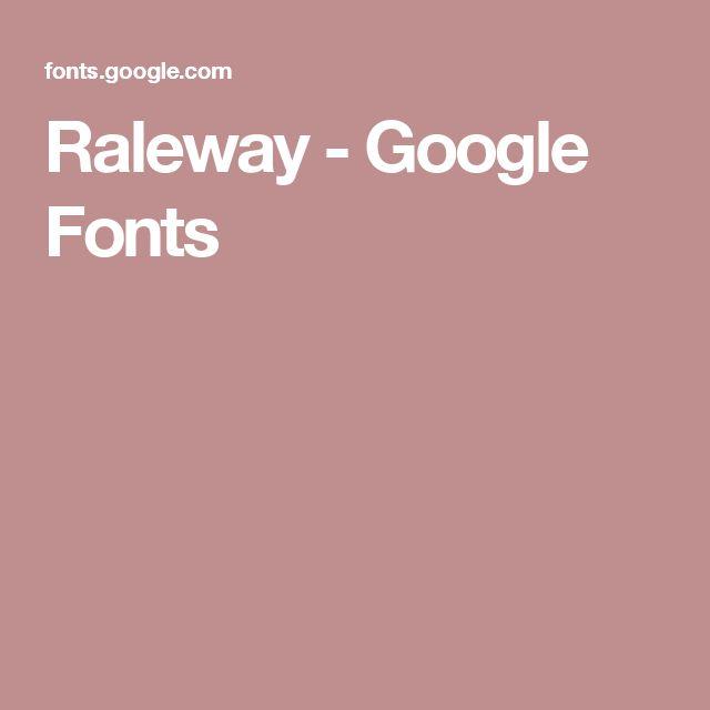 Raleway - Google Fonts