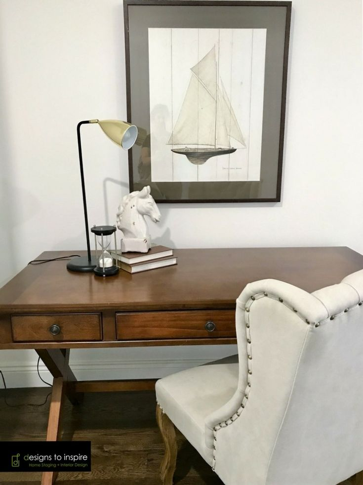 Thinking of an escape? This classic print adds some old world charm to this formal study #designstoinspire #propertystyling #art #nautical #formalstudy
