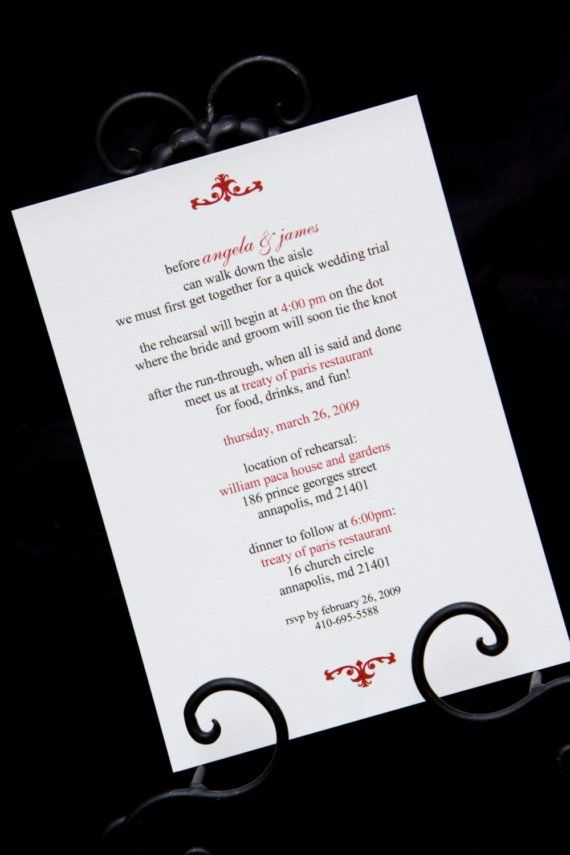 Wedding Rehearsal Dinner Invites