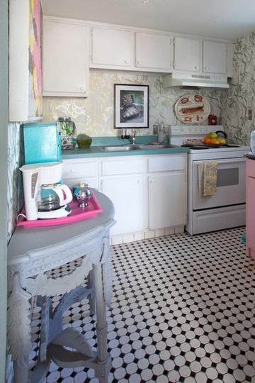whimsical kitchen.