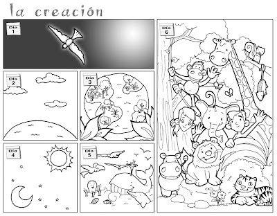 Dibujos para catequesis: LA CREACIÓN