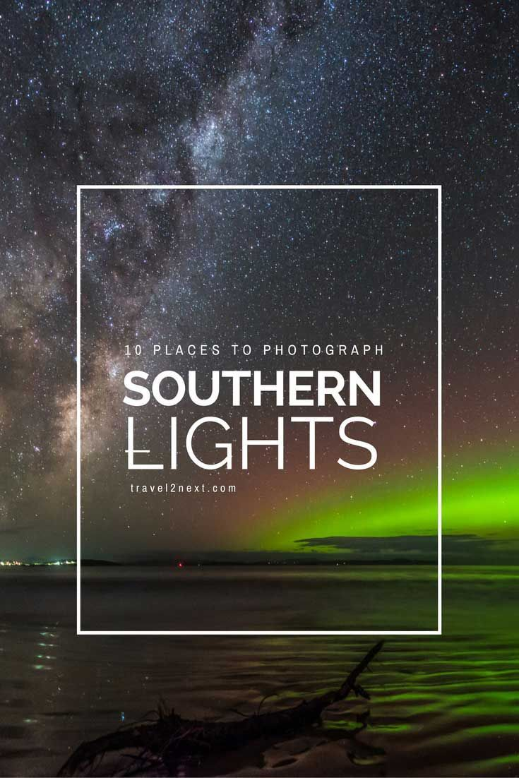 List of 10 best places to photograph the Southern Lights and the night sky in Tasmania. The Aurora Australis is an amazing wonder of nature.