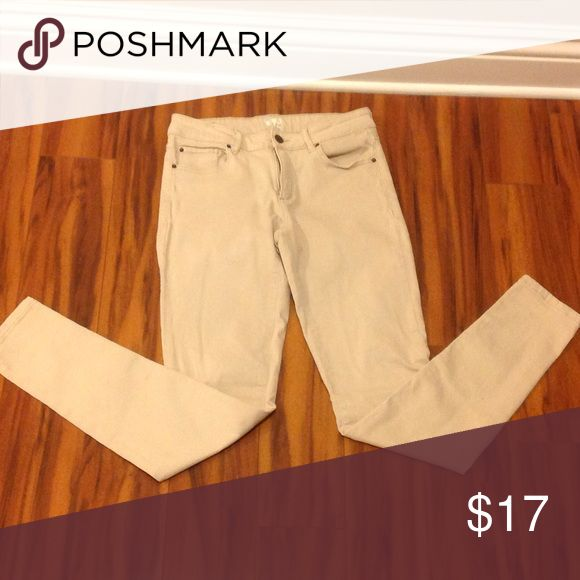 Garage High waisted khaki jeggings Worn twice, in perfect condition! Very stretchy. Garage Pants