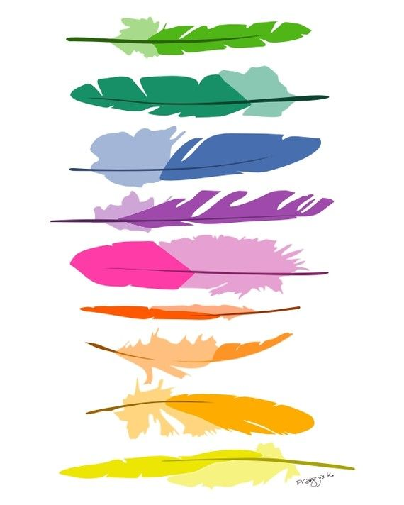 Feathers http://www.etsy.com/listing/67786684/colorful-art-feathers-whimsical-art?ref=tre-2011894083-1