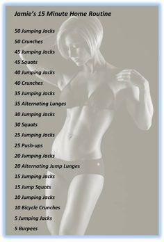 Jamie Eason's 15 minute routine