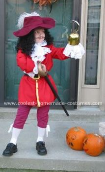 Captain Hook Costume: This is my son's Captain Hook costume from last year. If you could not tell it is Captian Hook from Peter Pan. Every year we try to come up with a theme,
