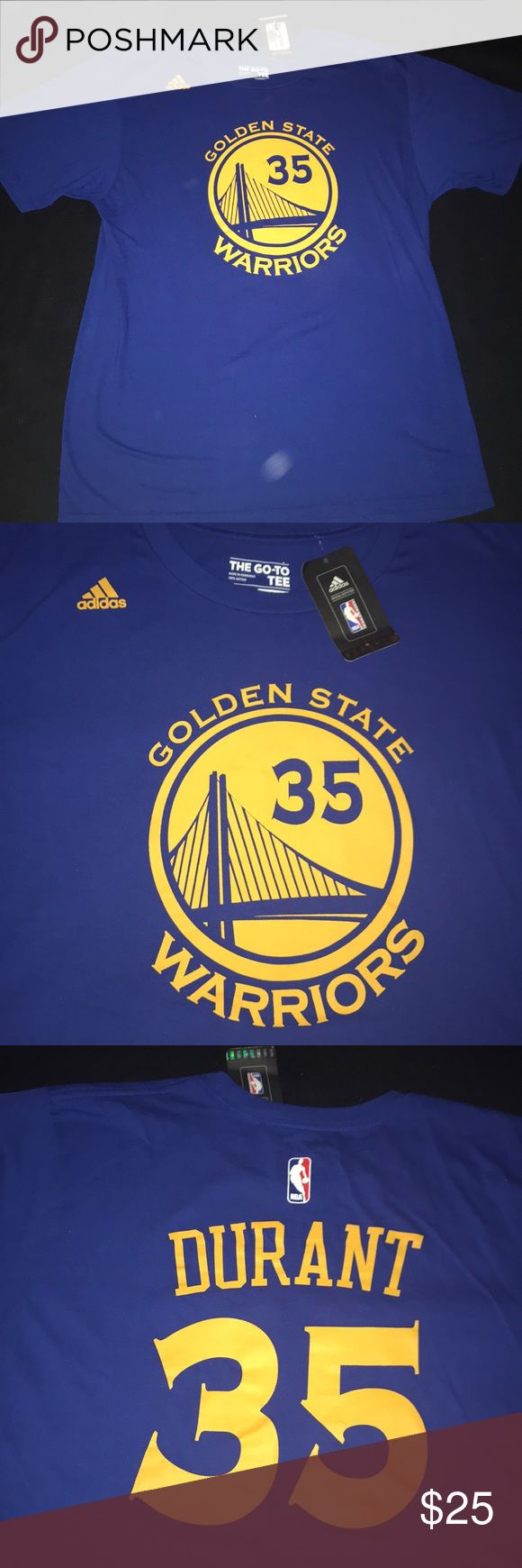 Kevin Durant #35 adidas tshirt Brand new with tags.  Purchased at the nba store inside the oracle arena. Animal and smoke free home. adidas Shirts Tees - Short Sleeve