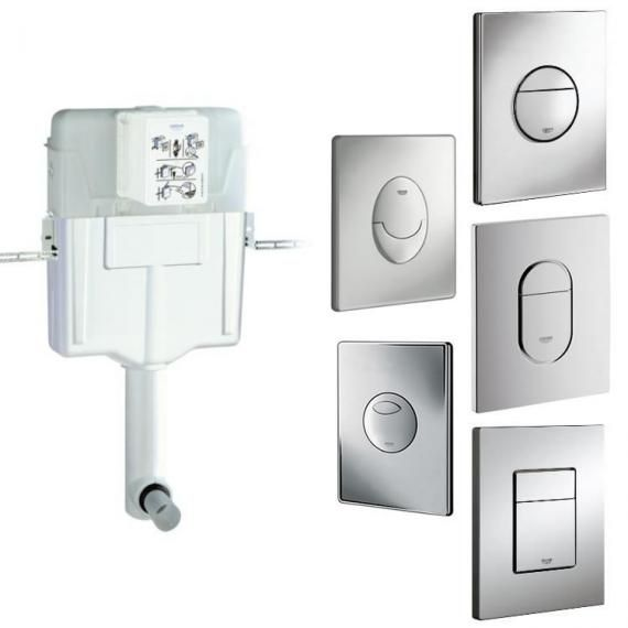 Grohe 1.2 Concealed Flushing Cistern & Flush Plate