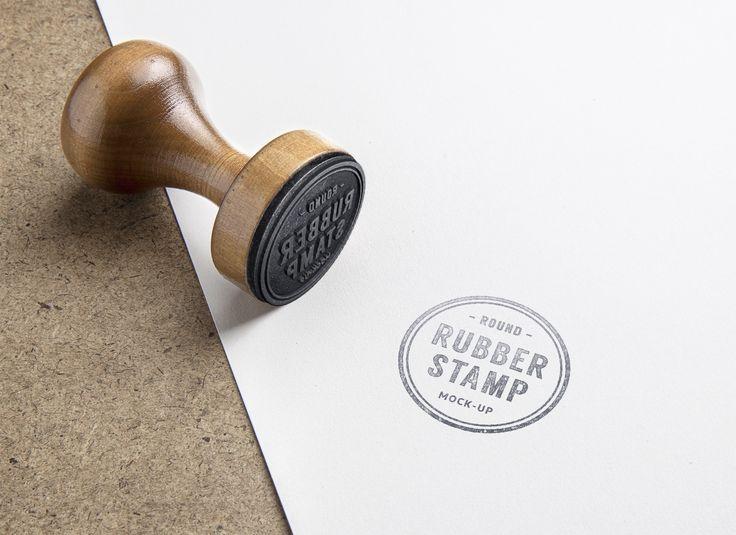 Superb Rubber Stamp PSD MockUp Free Graphic Design MockUp